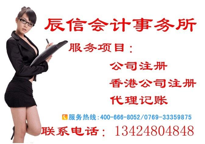 东莞代理注册公司营业执照
